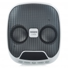 Compact Rechargeable 4W MP3 Music Speaker with FM/USB/SD Slot - White + Black