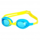Anti-Fog Polycarbonate Lens Swimming Goggles Glasses for Kids - Blue + Yellow