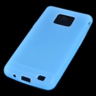 Protective Silicone Back Case for Samsung Galaxy S II i9100 - Translucent Blue