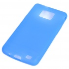 Protective Silicone Back Case for Samsung Galaxy S II i9100 - Translucent Dark Blue