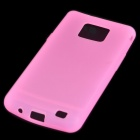 Protective Silicone Back Case for Samsung Galaxy S II i9100 - Translucent Pink