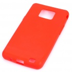 Protective Silicone Back Case for Samsung Galaxy S II i9100 - Red