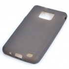 Protective Silicone Back Case for Samsung Galaxy S II i9100 - Translucent Grey