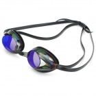 Anti-Fog Polycarbonate Lens Swimming Goggles Glasses - Black + Blue