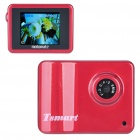 3MP Wide Angle Digital Car/Bike Mounted DVR Camcorder w/ TF Slot - Red (1.8