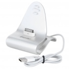Stylish Aluminum Alloy USB Charging Stand for iPhone/iPod - Silver