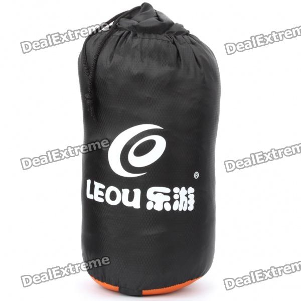 Fashion Portable Sleeping Bag - Black + Orange (185cm x 70cm)