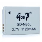 Replacement GD-NB5L 3.7V 1120mAh Battery Pack for Canon IXUS 900 Ti/90/800/850/950/SD970 IS + More