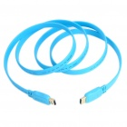 1080P HDMI V1.4 Male to Male Gold Plated Plug Flat Connection Cable - Blue (1.5M-Length)