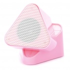 Portable Rechargeable MP3 Player Speaker w/ FM/USB/TF - Pink