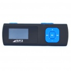 "1"" LCD USB Rechargeable MP3 Player with FM/TF Slot - Black + Blue (2GB)"