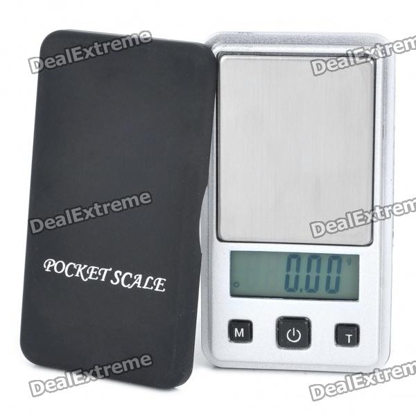 Mini 1.1 LCD Blue Backlit Digital Pocket Scale - 100g/0.01g (1 x CR2032) mini lcd display backlit portable digital scale 100g 0 01g 2 x aaa