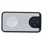 Stylish Portable Mini Rechargeable MP3 Music Speaker with FM/USB/3.5mm Audio/SD - Black