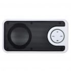 Stylish Portable Mini Rechargeable MP3 Music Speaker with FM/USB/3.5mm Audio/SD - White