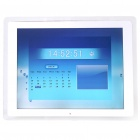 "13.3"" TFT LCD Digital Photo Frame with USB/SD/MMC/MS/Remote Controller - White (16MB)"