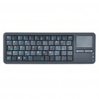Mini Handheld Rechargeable 56-Key Wireless Bluetooth Keyboard w/ Touchpad - Black