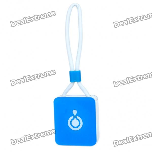 Compact TF Card Reader with Data/Charging Cable for iPhone/iPod/iPad - Blue (76mm-Cable)