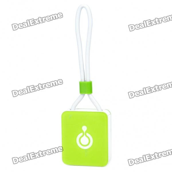 Compact TF Card Reader with Data/Charging Cable for iPhone/iPod/iPad - Green (76mm-Cable)
