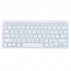 Ultra-Slim 78-Key Bluetooth 2.0 Wireless Keyboard for Iphone / Ipad + More - White (2 x AAA)