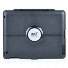 Protective Plastic Case w/ Stand Holder for Ipad 2 - Black