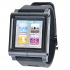 Aluminum Alloy Case + Silicone Armband for iPod Nano 6 - Black