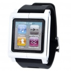 Aluminum Alloy Case + Silicone Armband for iPod Nano 6 - Silver + Black