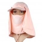 Multi-Use Cotton Hat mit abnehmbarem Schal + Mask (Pink)