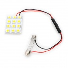 Power Saving 9mm 12-LED Warm White License Plate Dome Light (DC 12V)