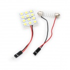 Power Saving 9mm 12-LED White License Plate Dome Light (DC 12V)