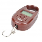 "1.0"" LCD Portable Digital Electronic Weighting Hook Scale - Brown (15kg Max/5g Resolution)"