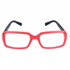Fashion Resin Lens Plastic Frame Glasses - Red + Black