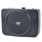 Compact Rechargeable Voice Amplifier with FM/USB/SD - Black