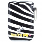 Cute Zebra Strip Pattern Protective PU Leather Case for Iphone3GS/4/Ipod Touch