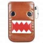 Cute Domo Pattern Protective PU Leather Case for iPhone3GS/4/iPod Touch