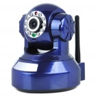H.264 300KP Wireless Wi-Fi/WLAN Surveillance IP Camera w/ 10-LED IR Night Vision/TF Slot - Blue