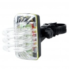 RGB 3-LED 3-Mode Bicycle Safety Light w/ Mount Holder (2 x AAA)