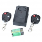 Honest Vibration Activated 120dB Security Alarm w/ 2*Keychains - Black