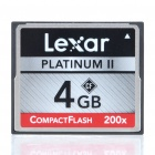 Genuine Lexar Professional Platinum II 200X Compact Flash CF Memory Card (4 GB)