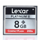 Genuine Lexar Professional Platinum II 200X Compact Flash CF Memory Card (8 GB)