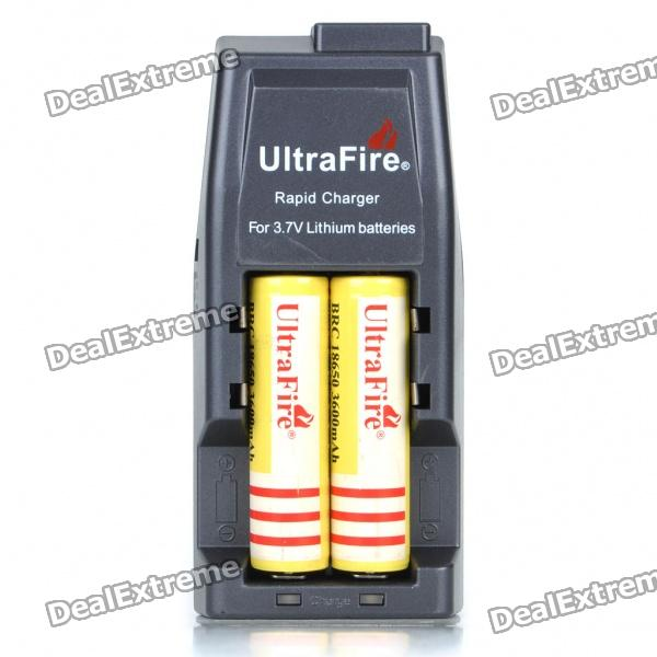 Ultra Fire All-in-One Batteries Charger with Protected 2 x 18650 Rechargeable 3600mAh Batteries liitokala 2pcs li ion 18650 3 7v 2600mah batteries rechargeable battery with portable battery box and 2 slots usb smart charger