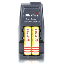 Ultra Fire All-in-One Battery Charger w/Protected 2*18650 Batteries