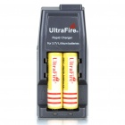 "Ultra Fire All-in-One Batteries Charger with Protected 2 x 18650 Rechargeable ""3600mAh"" Batteries"