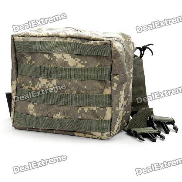 Military Outdoor Molle Drop Leg Panel Utility Pouch Bag - Army Green