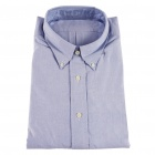 Men's Oxford Cloth Long Sleeve Shirt - Pale Blue (XL)