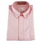 Men's Oxford Cloth Long Sleeve Shirt - Pink (XXL)
