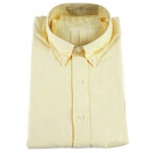 Men's Oxford Cloth Long Sleeve Shirt - Yellow (XXL)