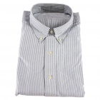 Men's Oxford Cloth Long Sleeve Shirt - Striped (XXL)
