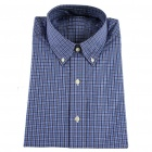 Men's Tabby Cotton Long Sleeve Men's Shirt - Plaid (XL)