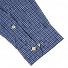 Men's Tabby Cotton Long Sleeve Men's Shirt - Plaid (XXL)