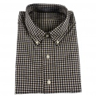 Men's Twill Cotton Long Sleeve Men's Shirt - Plaid (XXL)